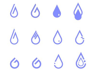 Logo Design Samples (Urban Petrichor) ui ux illustration creative aiga advertising marketing visualidentity brand branding design graphicdesign toronto urban raindrop logodesign logo