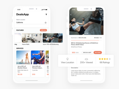 Special Offers and Deals App Design