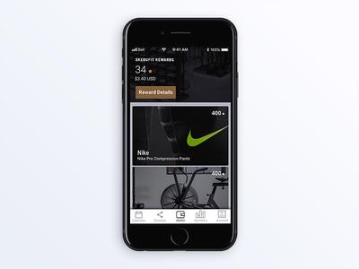 Skedufit workout sports wallet cards ux design artdirection ui