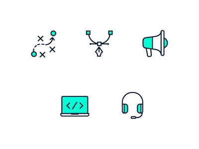 Service Icons design services iconset vector line minimal simple clean icons