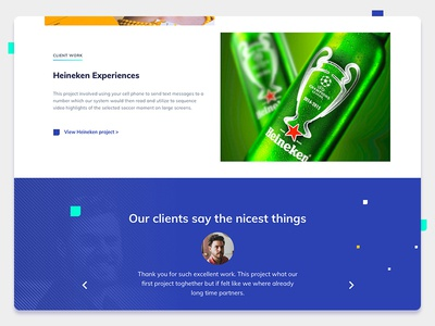 New Website agency website artdirection ui design