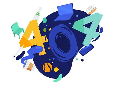 404 Error vector fun art 404 error page illustration 404