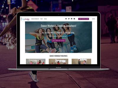 Danceworkouts webdesign dance workouts responsive website