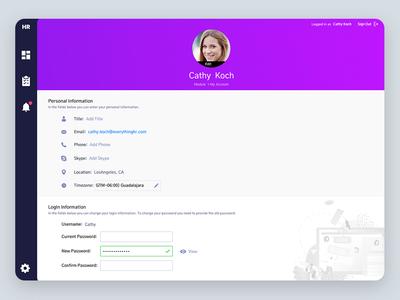 Dashboard HR dashboard flat design simple flat color webapp web responsive design dashboard