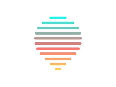 Amphora Logo minimal gradient mark color drop logo beer