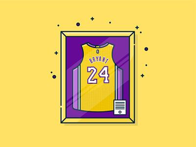 Kobe Bryant Jersey digital illustration adobe branding yellow flat vector vector simple design flat design illustrator icon vectorart los angeles kobe bryant