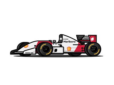 Mclaren Formula 1 Car vector art branding illustration ui icon flat design vehicle f1