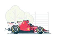 F1 Ferrari Flat Design 🏎
