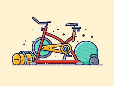 Fitness icon design digital illustration simple design vector illustration graphic design icon illustrator flat design
