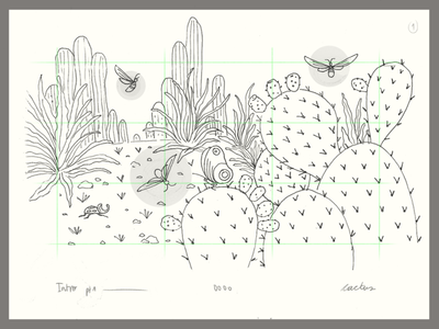 Luna Cansada | Sketches insects landscape mountains flowers cactus music nature sketch layout background animation storyboard illustration 2d illustration