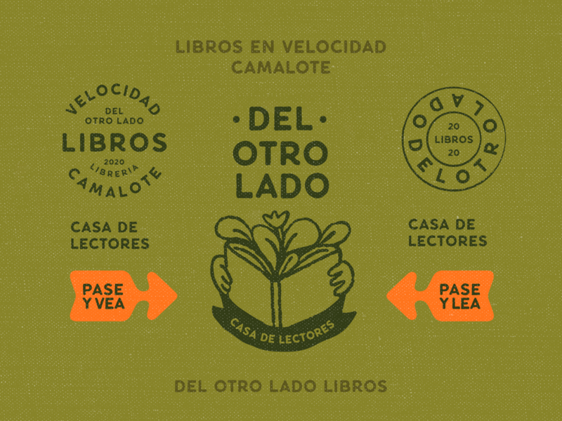 Del otro lado - Unchosen vol.2 vintage brand identity retro badge rubber stamp stamp seal book store reading illustration vector typography branding rebrand brand design visual identity identity logo system logo