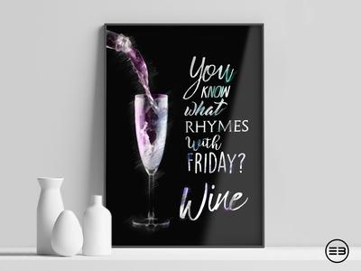Wine poster poster wine
