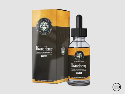 Hemp Oil box and label design black gold hemp tbd tbd oil hemp oil box design label design labeldesign