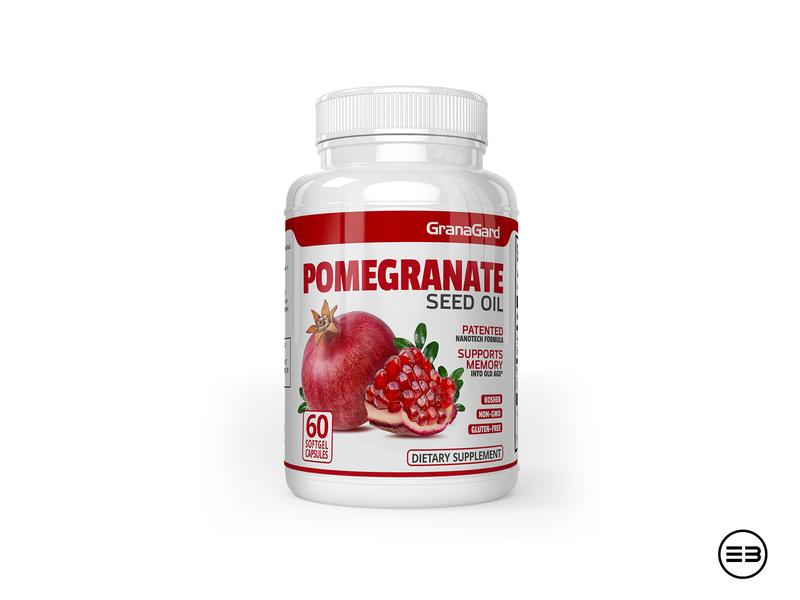 Dietary Supplement label dietary supplement pomegranate label mockup label design supplement