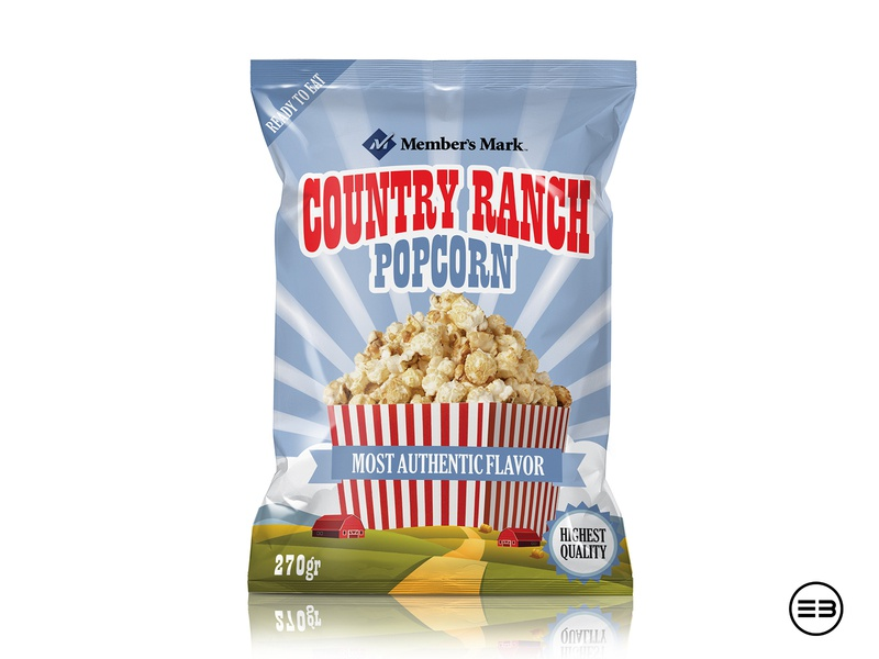 popcorn package design pouch popcorn