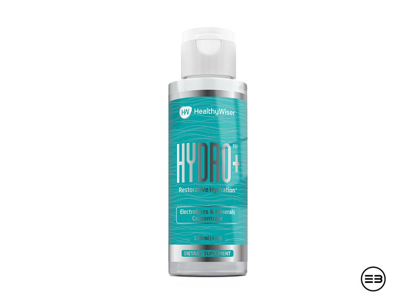 Supplement bottle green blue simple minerals electrolytes hydro label bottle label supplement bottle