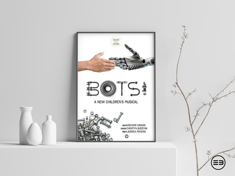 Poster for children's musical robot bots poster theatre children musical