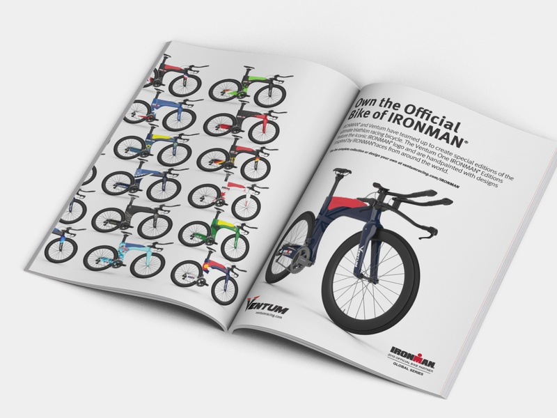 Magazine double spread ad advertising advertisement bike bicycle magazine ad magazine advert