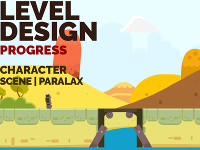 VIDEO - Game Design Progress - Character and Scene / Paralax