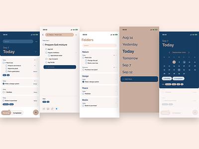 Task App achievement mobile ui plans reminder task