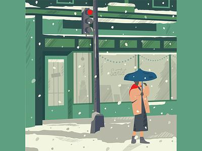 Snowfall character ice illustration snowfall snow