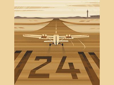 Landing texture illustration road stretch flight landing