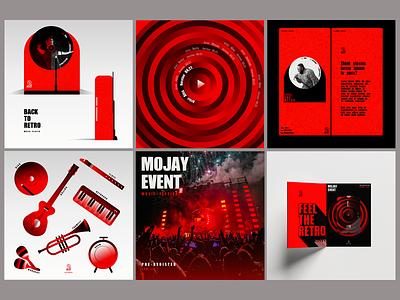 Retro Music product mockup illustration branding retro music