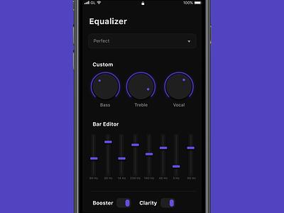 Equaliser audio player audio app sound design sound system music album music equaliser