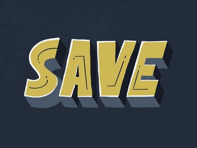 Save Lettering