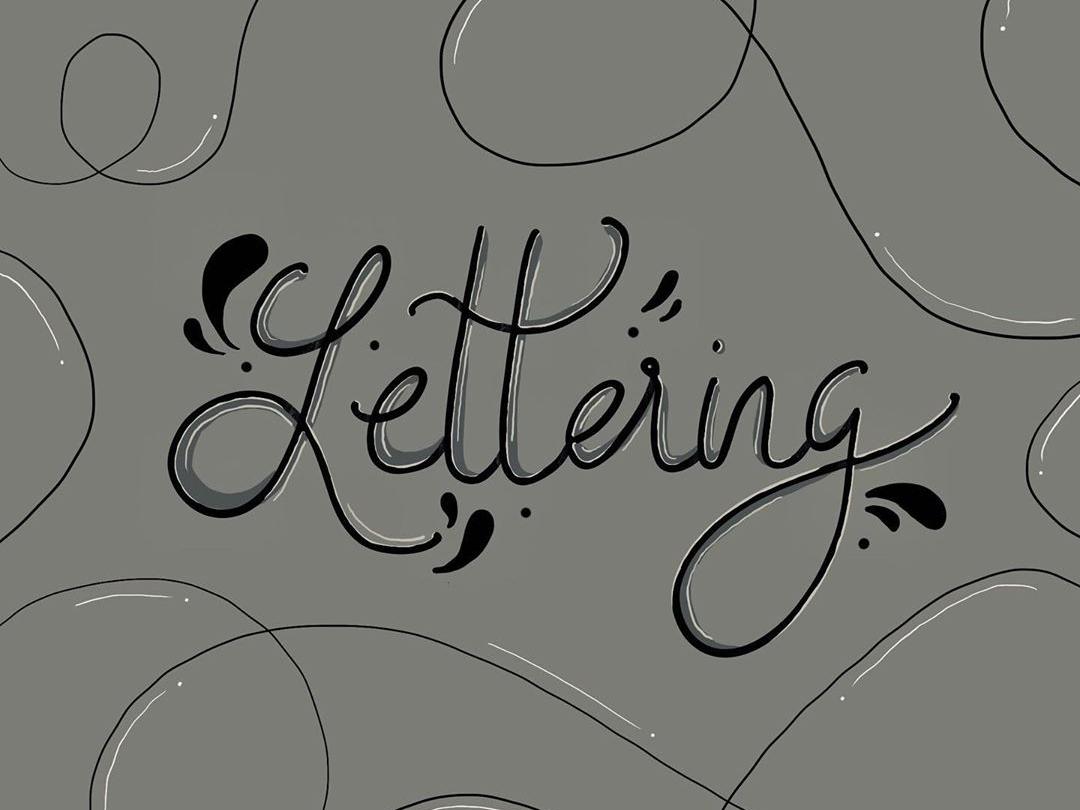 Hand Lettering ipad art procreate hand art handlettering calligraphy text letter letter logo