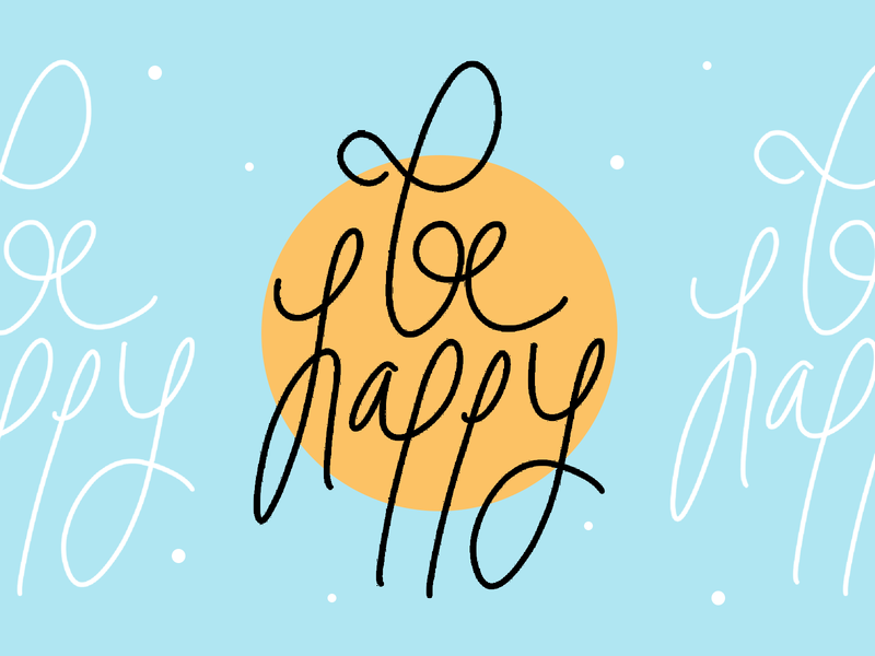 Behappy lettering font design text typography happy handlettering calligraphy
