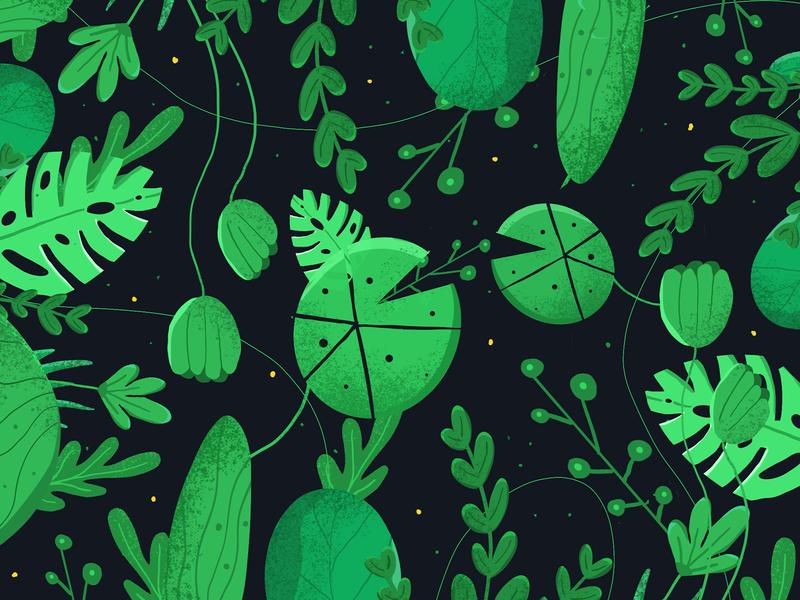 Dense Leaves green greenish forest dense leaves
