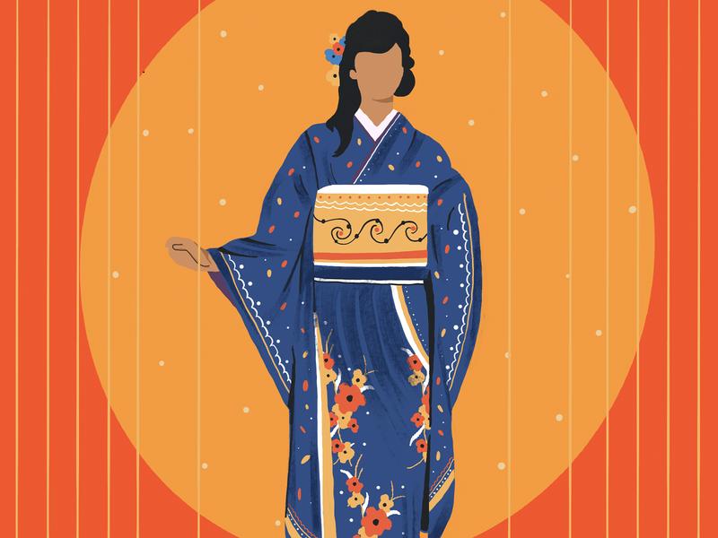 Japanese ipadart procreate illustration fashion japanese japan