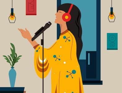 Signing mic rythm enjoy home headphone music song sing