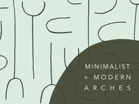 Minimalist Modern Arches Patterns and Artboards pattern design green artboard packaging design modern seamless pattern abstract pattern vector seamless surface design
