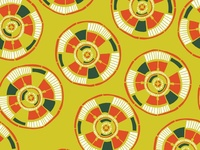 Geometric Circular Patterns No.2 | Seamless Pattern