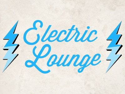 Electric Lounge Logo lightening bolts electricity charge blue
