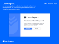 Learnimpact Register Page