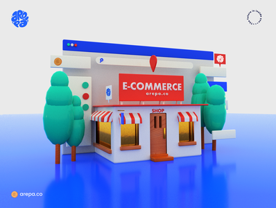 ecommerce arepa typography graphic design. ui ux arts creative art logo illustration
