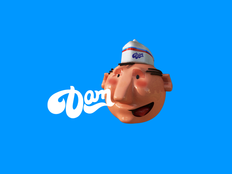 DAM ICECRAM typography graphicdesign arts illustration art director design logo design. design cream ui brand identity brand illustration