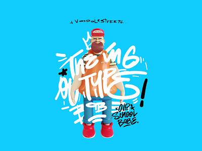 the King Of Type graffiti digital graffitti graphic arts design typography illustratiom graphicdesign 3d illustration art director design creative lettering art illustration
