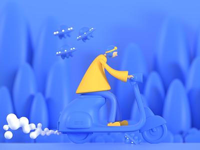 Help me ui building design blender3dart blender3d design 3d illustration