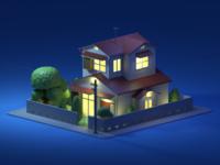 Nobita House Night Mode