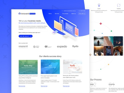 Innovent Software - Homepage Rebranding gradient blue homepage digital landing corporate branding agency software
