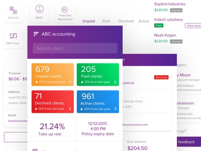 Accounting Mobile Application Design System