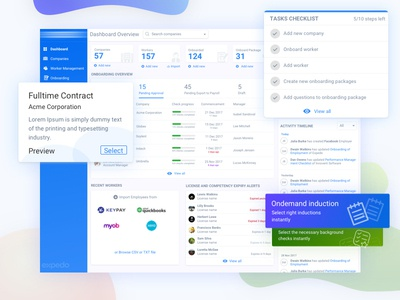 Hr and payroll software Dashboard