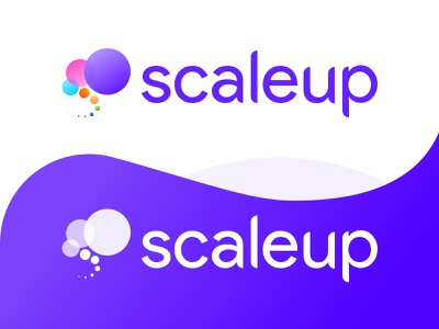 Scaleup fibonacci typography type letter s s monogram scaleup gradient design circle logo purple logo