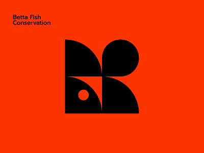 Betta Fish Conservation vector ui logo design brand logo branding