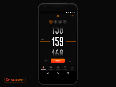 Metronome by Cifra Club (Android) font type numbers android app music beats metronome