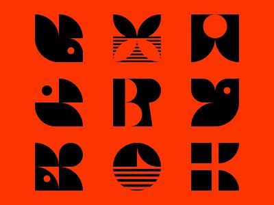 Logos reflection reflect ui icon brand branding design logo design r h press boat sun golf horizon bird logo